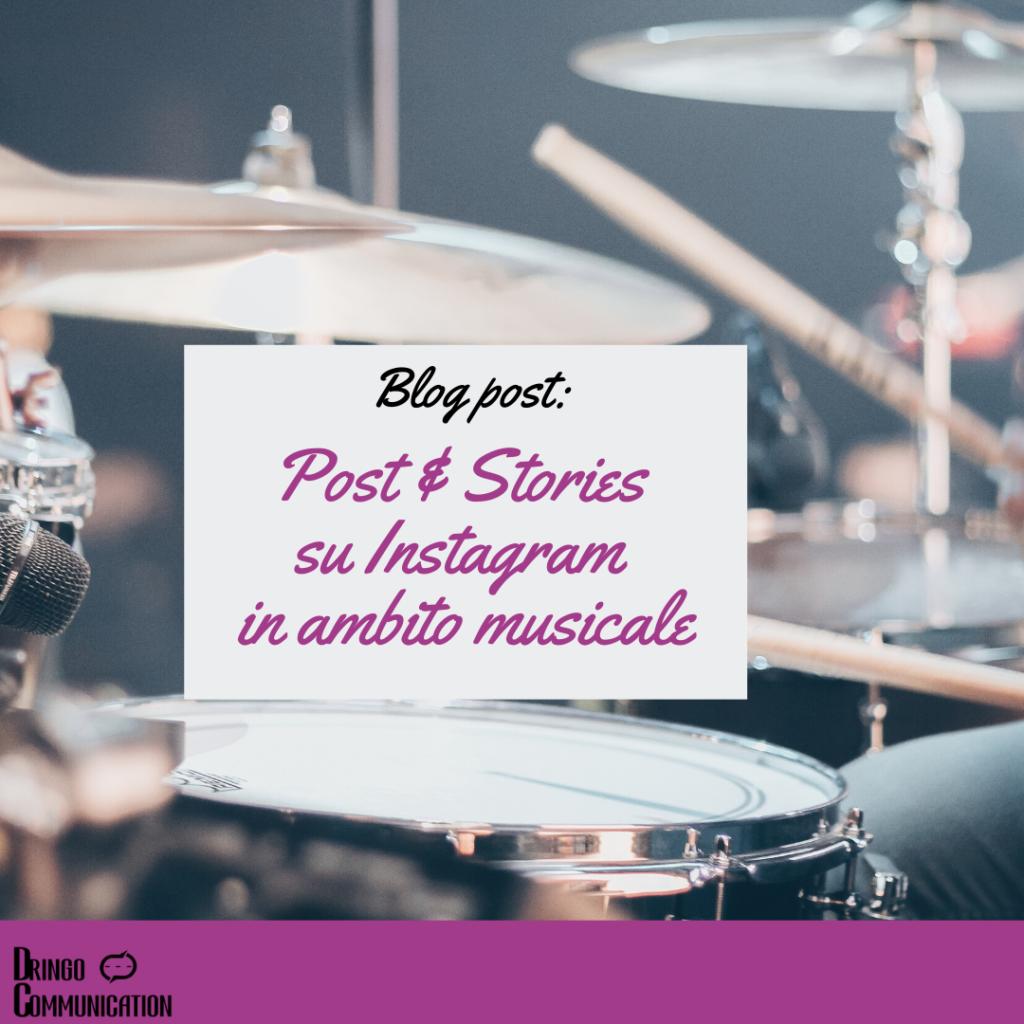 post e storie su instagram nella musica